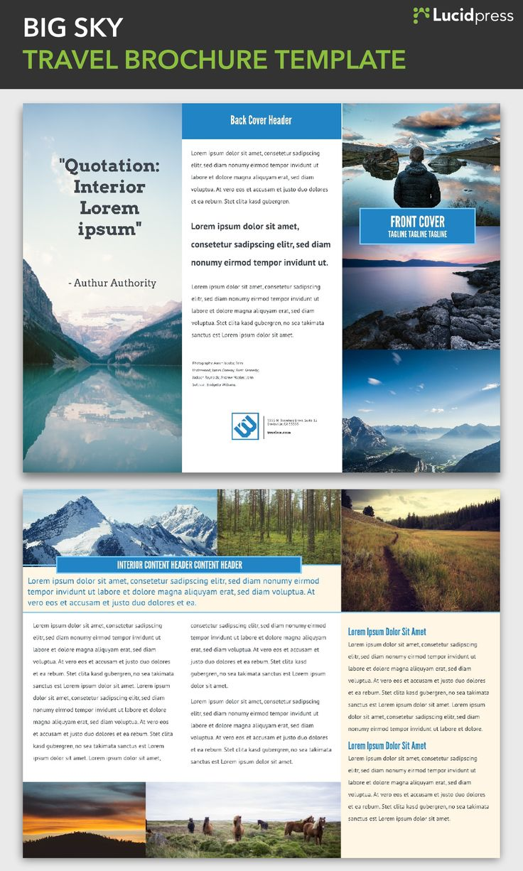 23 Best Free Brochure Templates Images On Pinterest Free