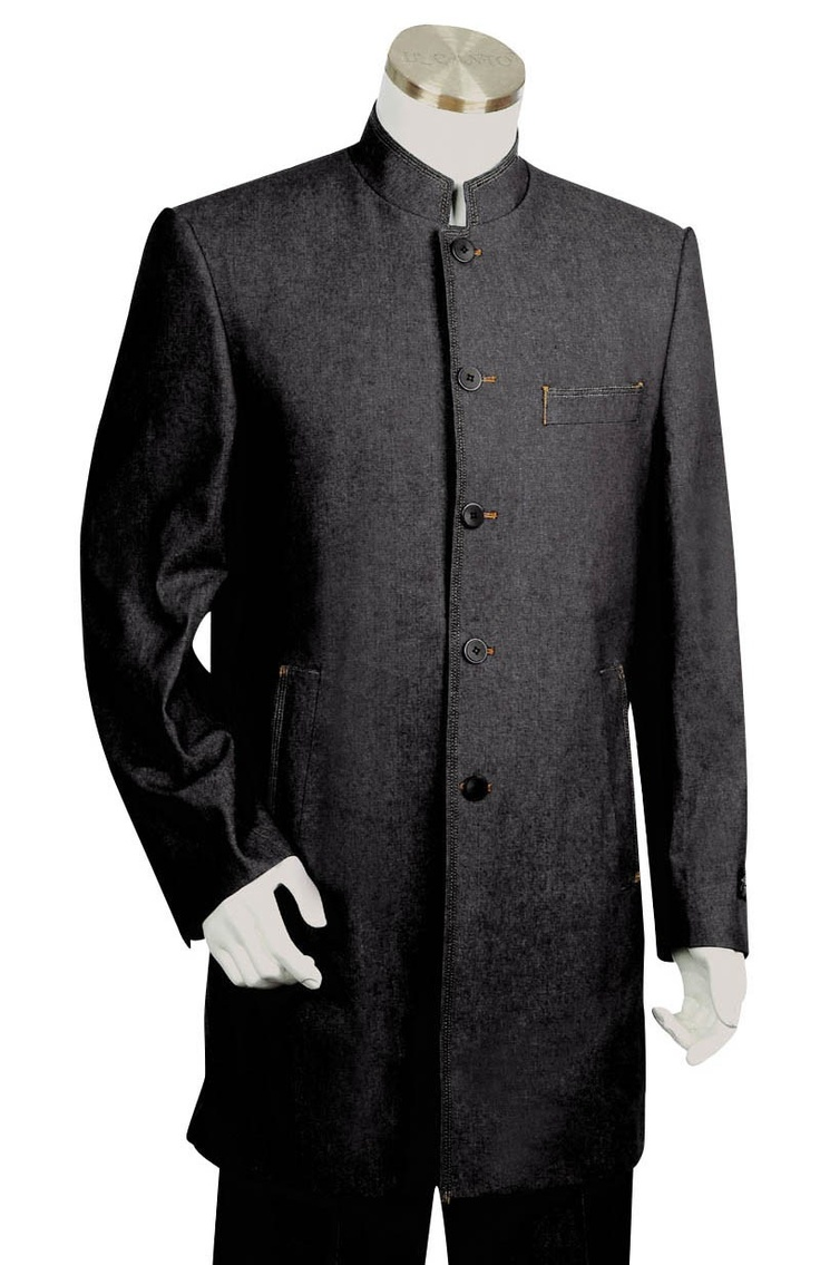 Sophisticated Banded Collar Suits If you're searching for the finest banded collar suits on the Internet, look no further than MensItaly. Our acclaimed online retailer can accommodate any and all of your suit needs. Shopping for first-rate banded collar suits for men is a breeze when we're around.