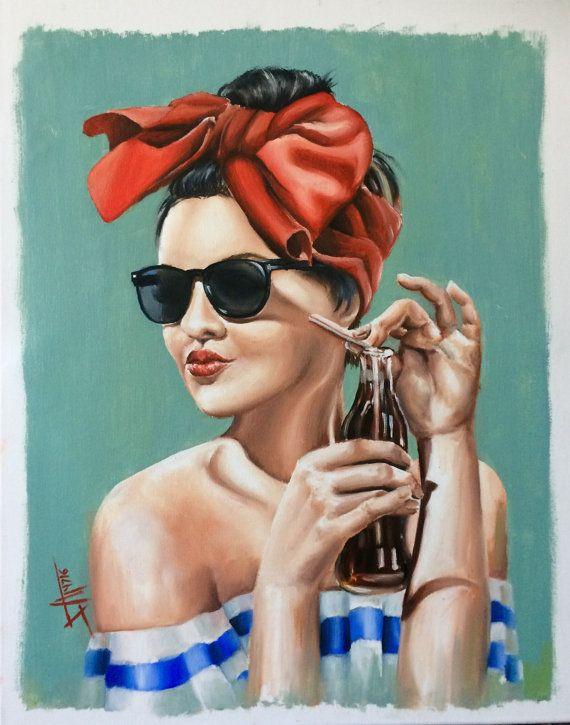 """Sunkissed"" original oil painting on canvas #painting #art #oilpainting #wallart #gallerywall #summerart"