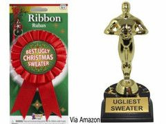 Prizes for ugly christmas sweater contest awards