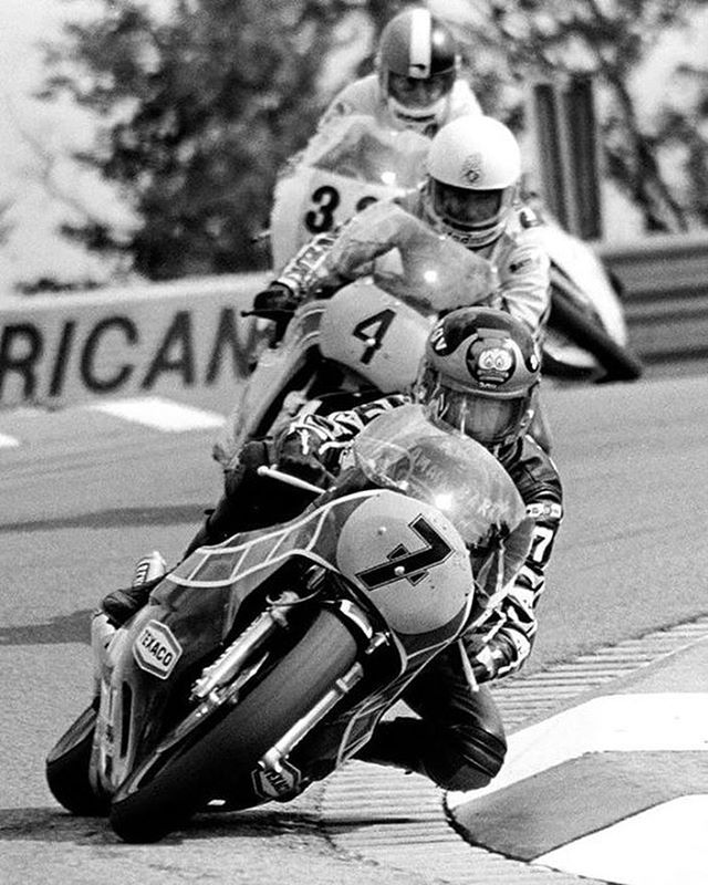"caferacersofinstagram: ""Barry Sheene doing what he does best. . . . #croig #caferacersofinstagram #caferacer """