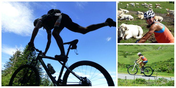 #VTT acrobatique à St Lary pour Magali Moreau et Anthony Rabeau !