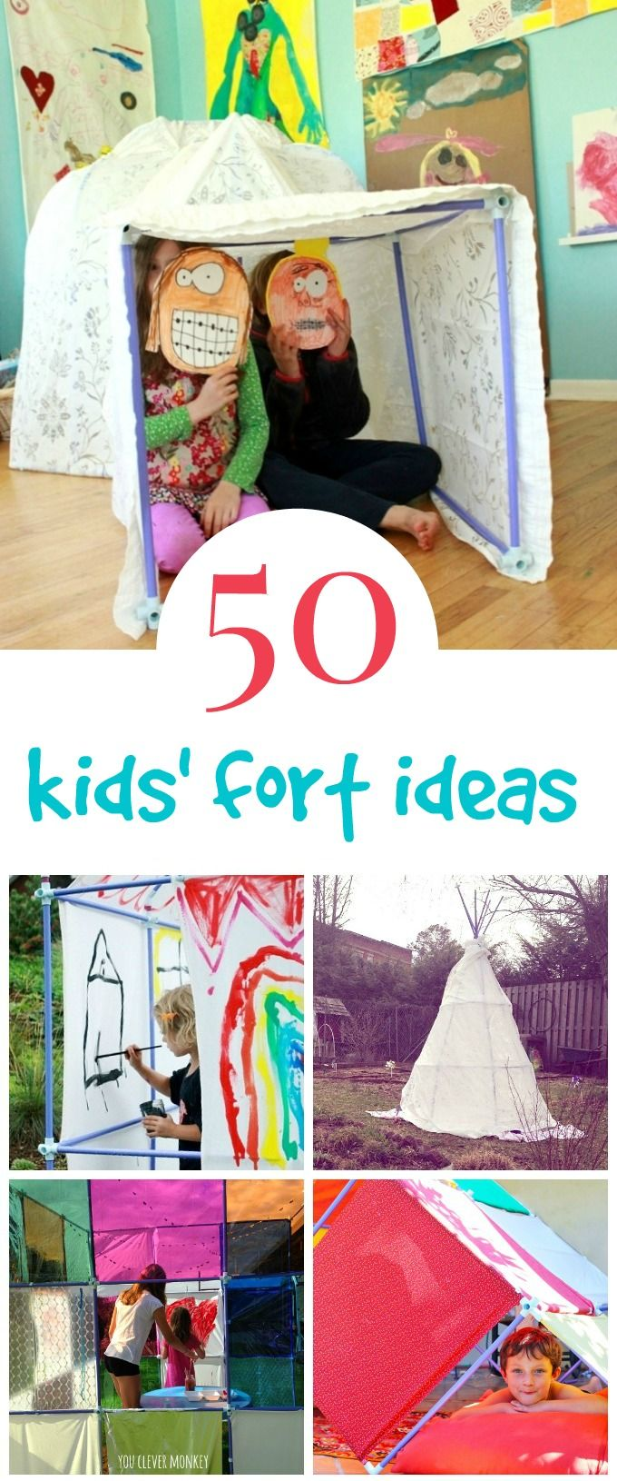 50 Awesome Kids Fort Ideas Using a Fort Magic Kit