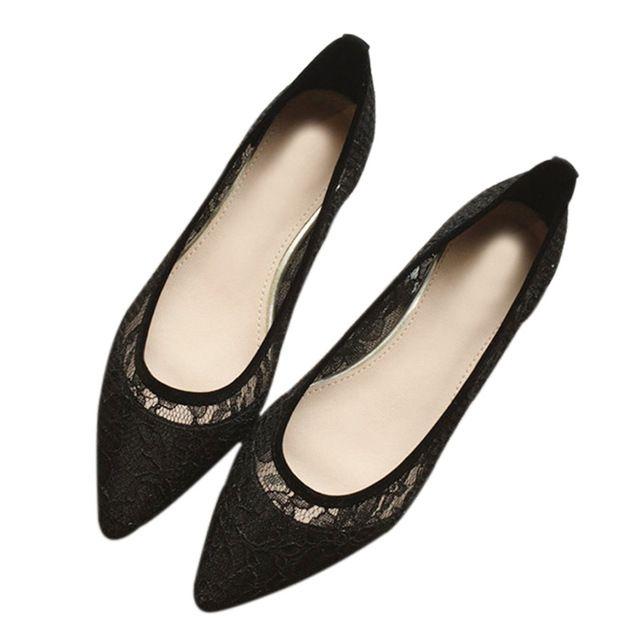 Novo 2017 Sapatas do Verão Das Mulheres Apartamentos Moda dedo Apontado Sapatos de Barco Das Mulheres Flats Marca Malha Respirável Plus Size 41 ZH002