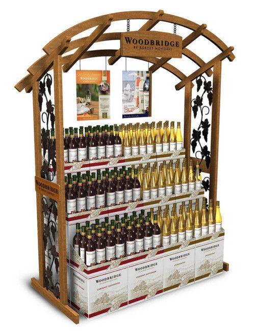 Wine Wooden Mass Merchandiser
