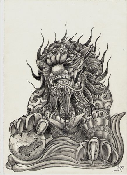 Chinese Guardian Lion Tattoo Designs 1000+ images about foo dogs on pinterest  foo dog, foo dog ...