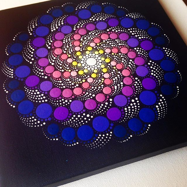 Mandala Dot Painting On X Canvas