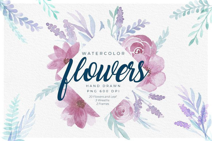 Delicate Watercolor Floral Graphics by RV Zarpelon on @creativemarket This is a set of hand painted watercolor flowers and leafs, perfect to be used for any project that needs that extra touch of delicate, fresh and beautiful flower ornaments, such as wedding invitations and stationery, company branding, card designs, etc. [ad]