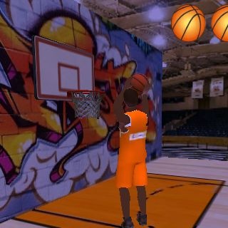 Attractive basketball game. Target and aim for your basket for more and more score. Pure 3D sports game<br>Player attributes and tendencies automatically update daily to reflect true life hot and cold streaks. Now, each game played in the Basketball can h