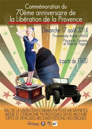 Commémoration du 70e anniversaire de la Libération de la Provence  #liberation #affiche #commemoration #manosque