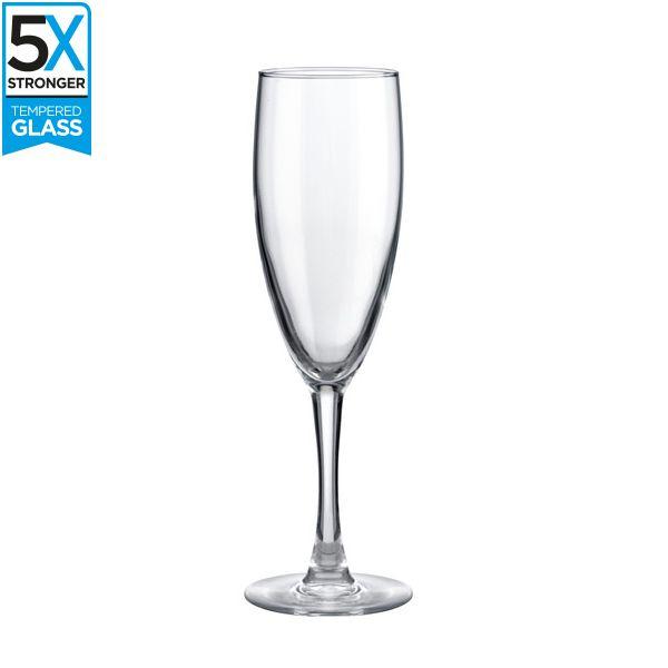 Hostelvia Merlot Tempered Champagne Flutes (Set of 12)