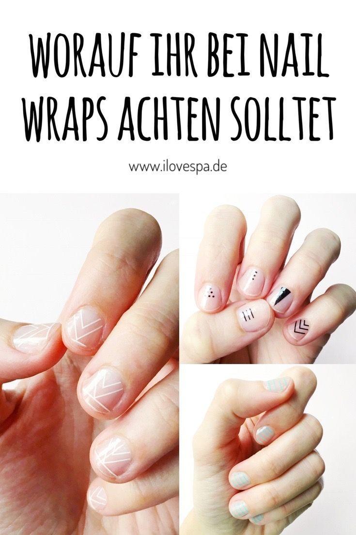 DIY Minimal Manicure mit Nail Wraps – Maniküre ohne Lack – worauf ihr achten solltet nageldesign schlicht