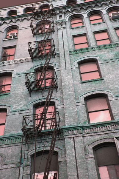 Fire Escape New York City 1940s : Best images about fire escapes brownstones nyc on