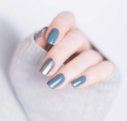 nail art design 2017 spring inspiration ideas DIY | green sliver glitter | round | gel polish | acrylic