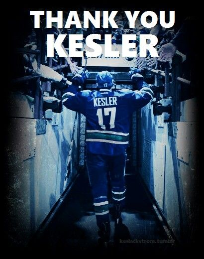 Thank you Ryan Kesler,  best of luck in Anaheim!
