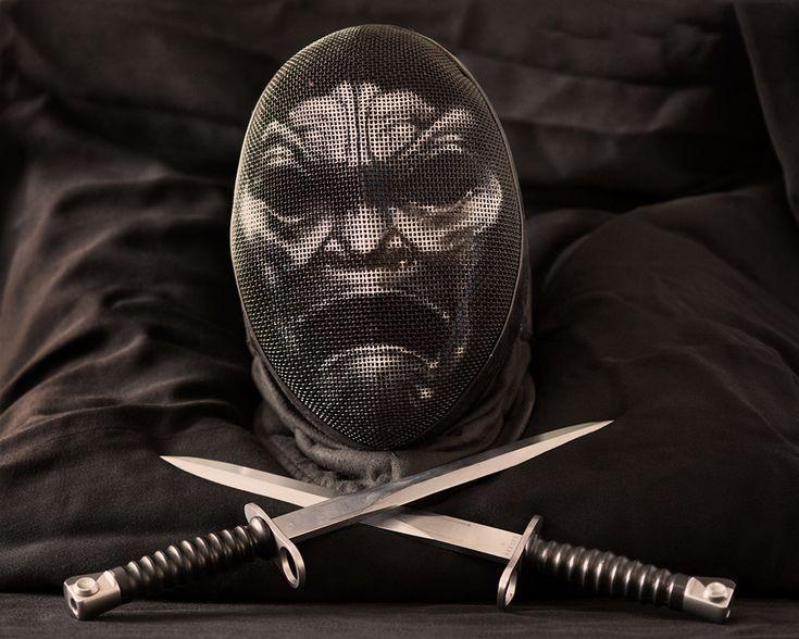Immortal fencing mask by Gwallchmai
