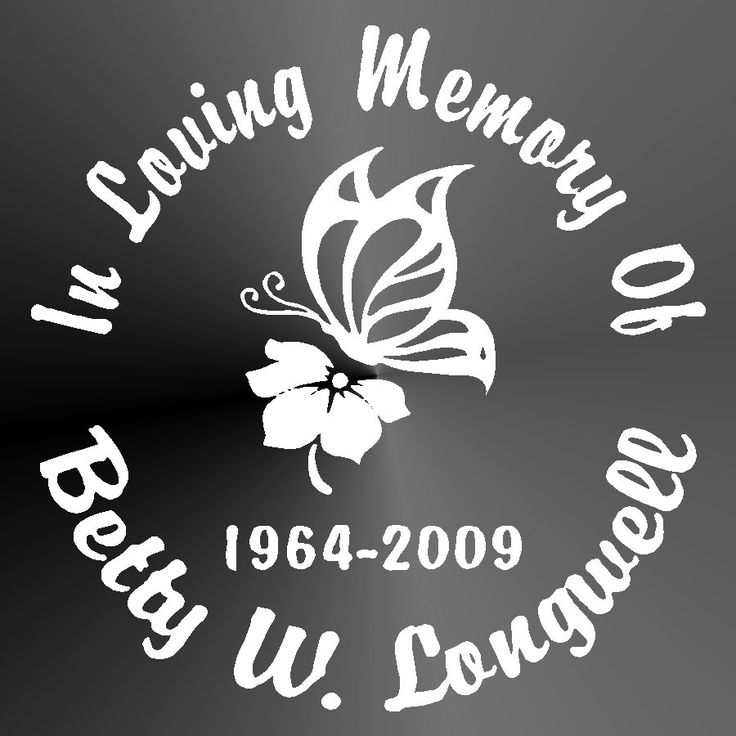 Memorial Butterfly Flower Decal Vinyl Sticker Decal
