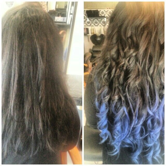 Turned all over same colour to Bright Blue Balayage