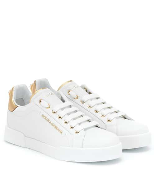 Embellished Leather Sneakers Dolce Gabbana Sneakers Leather Sneakers Dolce And Gabbana