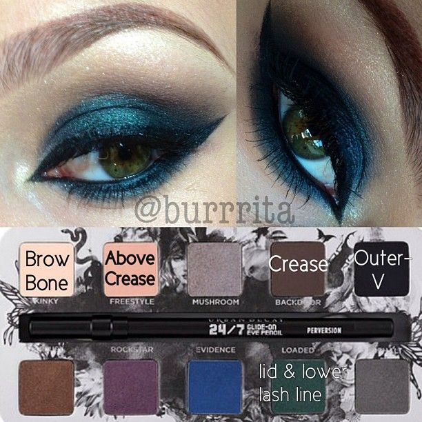 """Dark green smokey eye using my Urban Decay """"Smoked"""" pallet, and just a bit o...   Use Instagram online! Websta is the Best Instagram Web Viewer!"""