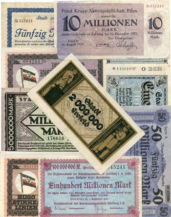 TOPSELLER! GERMANY 9 DIFFERENT INFLATION BANKNOT... $47.96