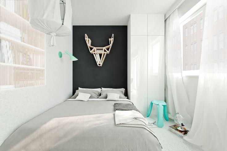 европейский дизайн спальни в квартире 41 кв. м.