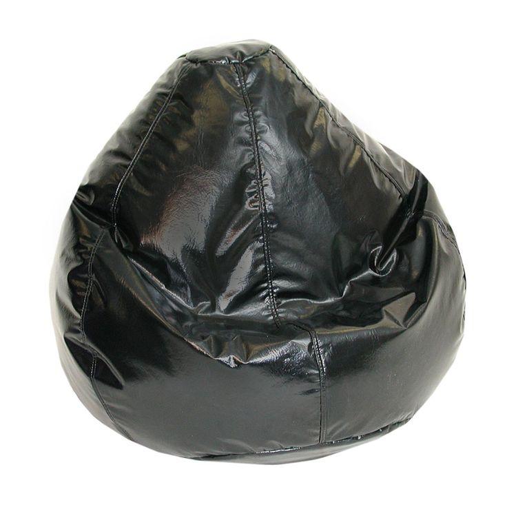Wetlook Large Bean Bag Black (Black), Size Medium (Vinyl)