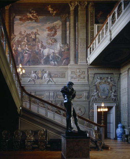 The Grand Staircase at Petworth with murals by Louis Laguerre.