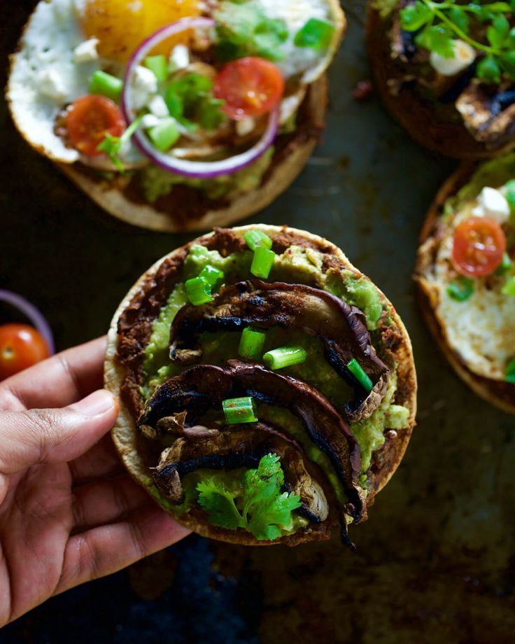 Homemade Black Bean Chipotle Tostadas