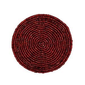Thé Coaster rouge perlé napperon Accueil décorations indiennes, Set de quatre: Amazon.fr: Cuisine & Maison