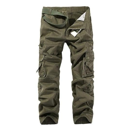 2018 Hot Tactical Mens Cargo Pants Cotton Casual Military Men Pants Solideosewe