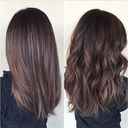 Hübsche und stilvolle Brunette-Haarschnitte