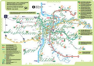 Prague Transport Map - Prague Hotel Reservation and Travel Guide