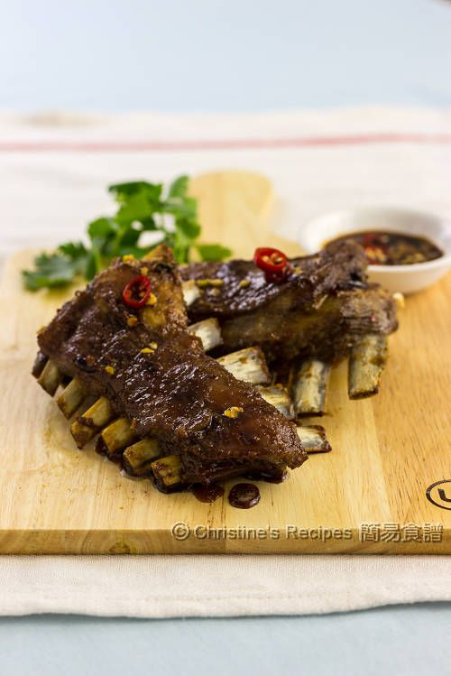 Asian Baked Lamb Ribs from Christine's Recipes