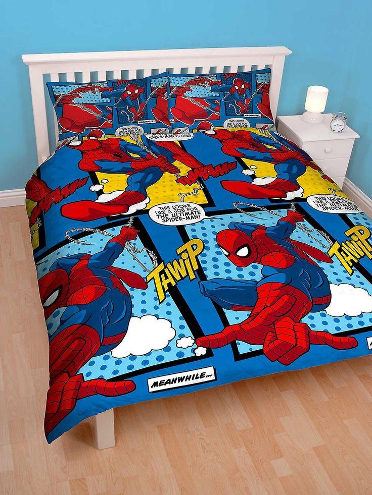 Spiderman Webhead Double Duvet Cover Set Polyester