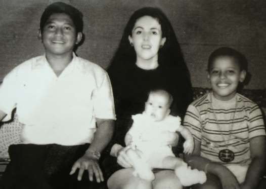Barack's parents divorced when he was only two years old. He moved to Indonesia in 1967 after Ann Dunham married Indonesian Lolo Soetoro (L) in 1965. He is pictured along with his half-sister, Maya (C). - Barney Henderson/REX