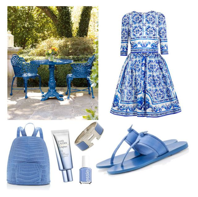 Summer it's all about light blue.. by sheiscarla on Polyvore featuring polyvore, fashion, style, Dolce&Gabbana, Ancient Greek Sandals, Fratelli Karida, Nancy Gonzalez, Hermès, Estée Lauder, Essie, Neiman Marcus, women's clothing, women's fashion, women, female, woman, misses and juniors