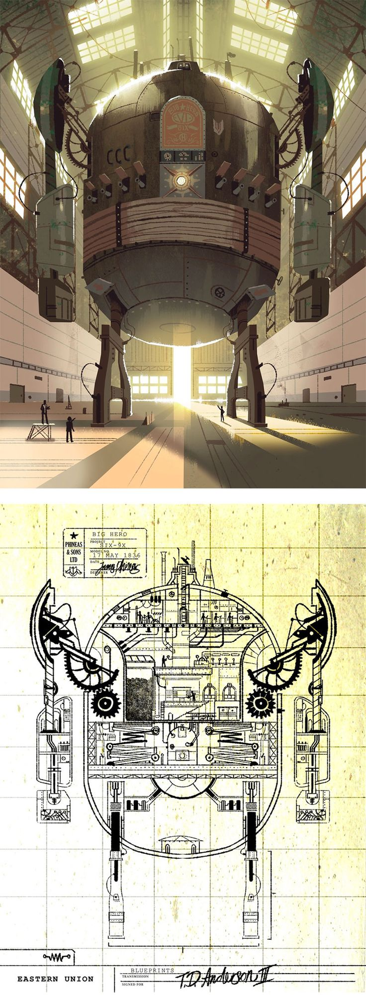 Novas artes de Kevin Dart para Big Hero 6! | THECAB - The Concept Art Blog
