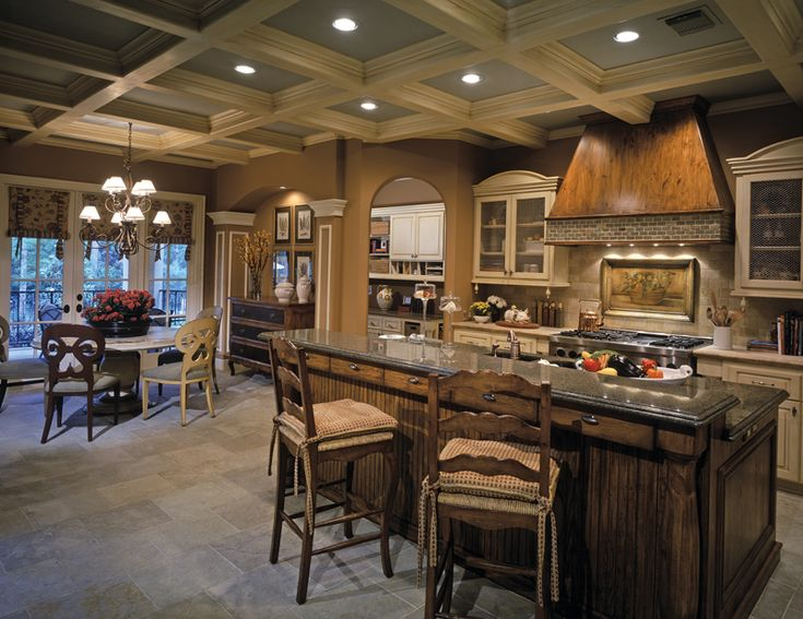 Lacrosse Manor European Home French Country House Plansfrench Kitchenscountry