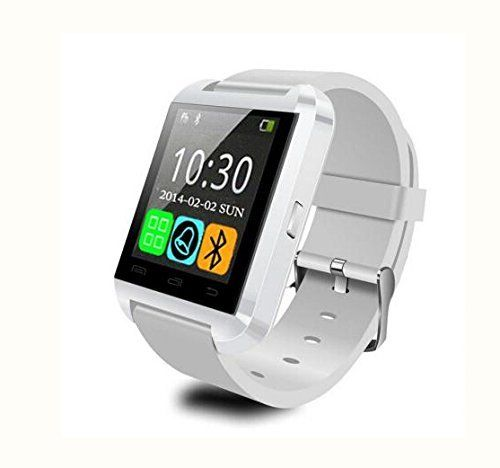 LEMFO Bluetooth Smart Watch WristWatch U8 UWatch Fit for Smartphones IOS Apple iphone 4/4S/5/5C/5S Android Samsung S2/S3/S4/Note 2/Note 3 HTC Sony Blackberry (White) | Total Online Shop