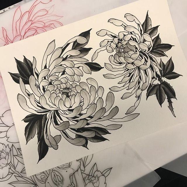 Crisantemi Neotrad Japanese Flower Tattoo Chrysanthemum Tattoo Japanese Tattoo
