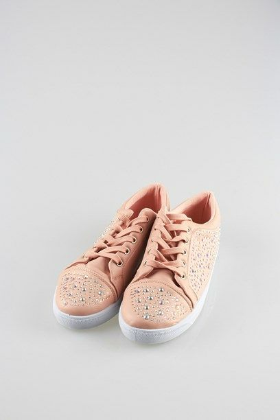 TENNA SNEAKERS - Champagne coloured faux simili sneakers.