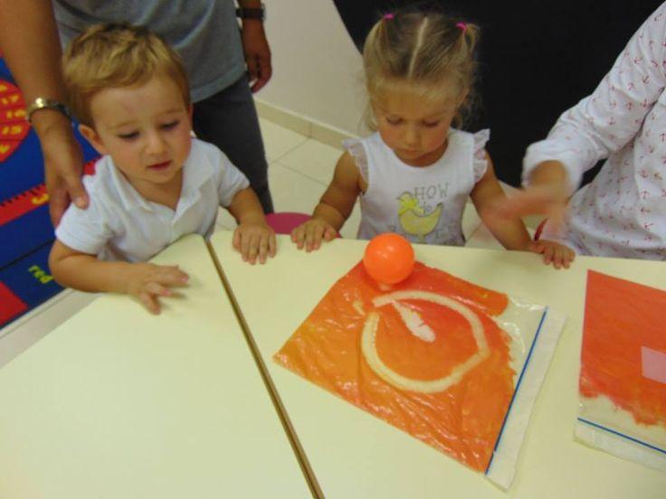 Orange sensory bags.
