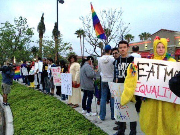Bonny eagle gay protest