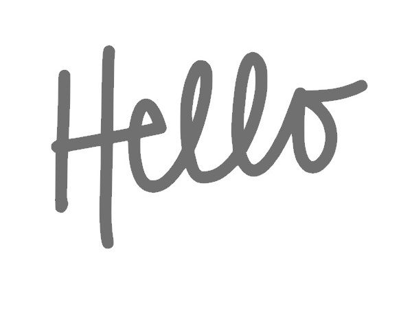 Free hand drawn 'Hello' cut file - by Jennifer Chapin #Silhouette #CutFile