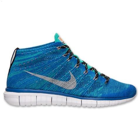 Nike Free Flyknit Chukka Mens Shoes Blue Silver Korea(USD 86.99)-Shop Nike Free 5,0 Sko Online Butik Gratis Forsendelse Alle Ordrer!