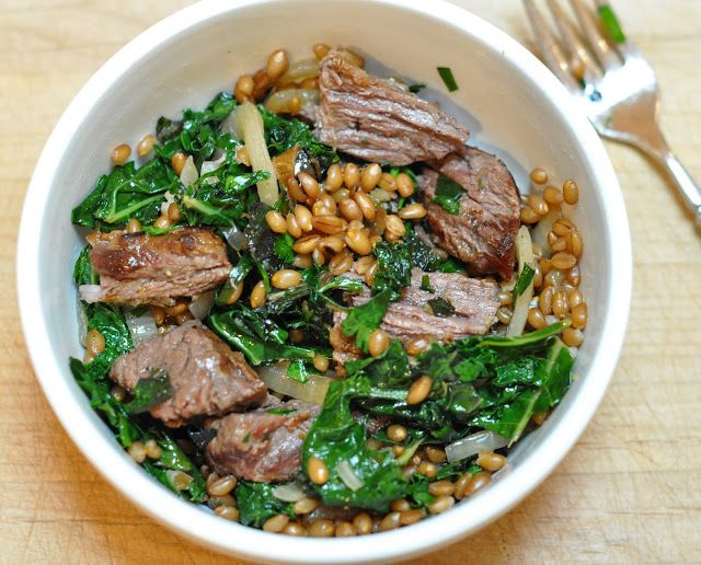 wheat berries with charred onions and kale | Get in ma belly ...