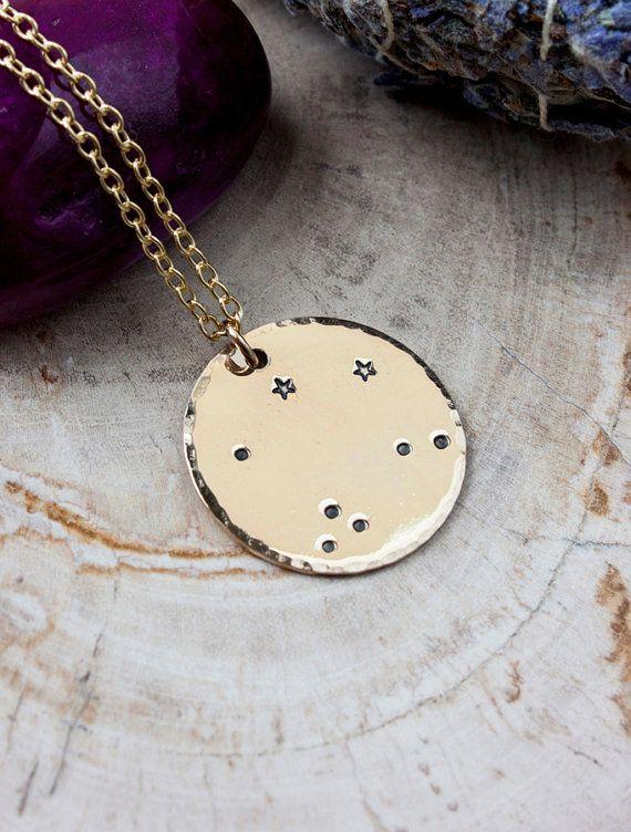 <3 SHORTEST LENGTH Libra constellation ncklace   Etsy   $75
