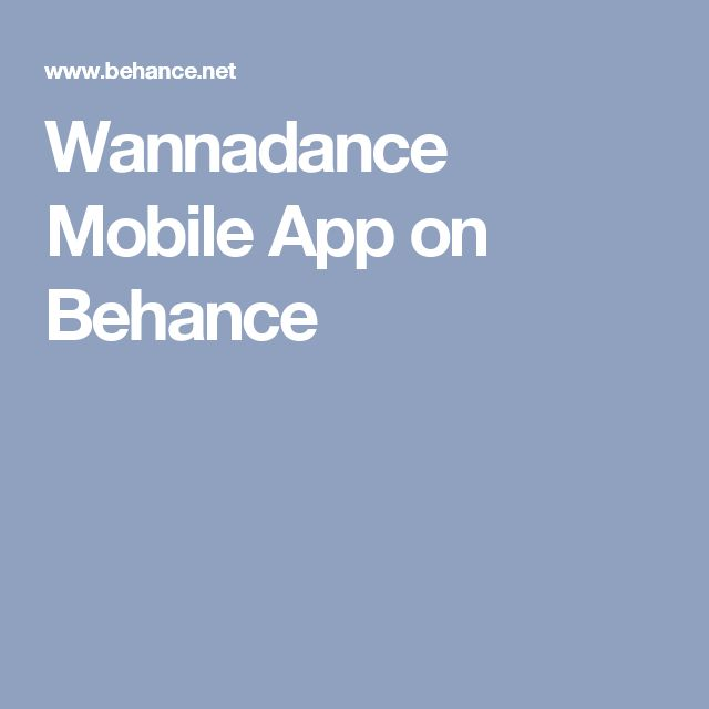 Wannadance Mobile App on Behance