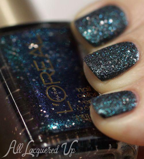 L'Oréal Paris Colour Riche Gold Dust Textured Nail Polish Swatches - Hidden Gems | AllLacqueredUp.com